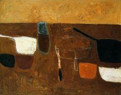 William Scott Brown Still Life (1957) oil on canvas 102 x 127 cm