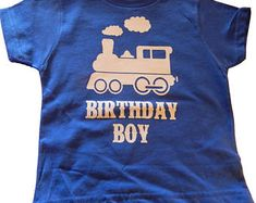 Train Birthday Boy T-Shirt, Choo Choo Train Engine for All Birthday Ages