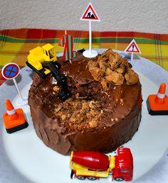 Geburtstagskuchen-Baustelle
