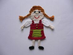 Mädchen im Dirndl - Häkelapplikation  von Spielkiste auf DaWanda.com
