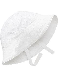 86c9fc881d2 Embroidered-Eyelet Sun Hats for Baby Baby Sun Hat