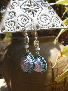 Hmong Tribal Textile Upcycled Jewellery HandMade by KulshiMumkin, $7.00