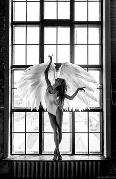 Image about beautiful in dance by Mathilde Favier Angels Among Us, Angels And Demons, Art And Illustration, Alexander Yakovlev, Ange Demon, Jolie Photo, Angel Art, Dance Photography, Black And White Photography