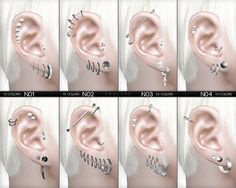 Sims 4 CC's - The Best: Mega Pack Piercings Set by Pralinesims