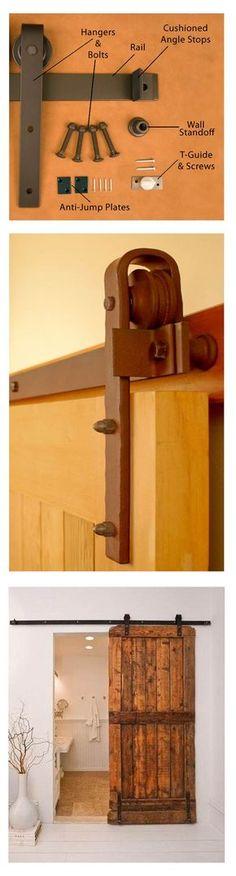 Sliding barn door ~ hardware & finished product