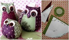 How to DIY Cute Fabric Owl from Template | www.FabArtDIY.com LIKE Us on Facebook ==> https://www.facebook.com/FabArtDIY