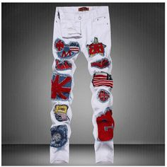 37.95$  Watch here - https://alitems.com/g/1e8d114494b01f4c715516525dc3e8/?i=5&ulp=https%3A%2F%2Fwww.aliexpress.com%2Fitem%2FUS-Flag-Badge-Patch-Mens-Denim-Jeans-Pants-2015-Fashion-White-DJ-Singer-Jeans-Pants-Designer%2F32383327262.html - US Flag Badge Patch Mens Denim Jeans Pants 2016 Fashion White DJ Singer Jeans Pants Designer Brand Slim Fit Pencil Jeans 30-36 37.95$