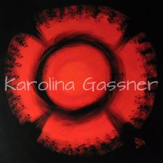 """""""Red Circles"""" by Karolina Gassner © acrylic on canvas, cm. Acrylic Paintings, Circles, Canvas, Create, Red, Tela, Canvases, Rouge"""