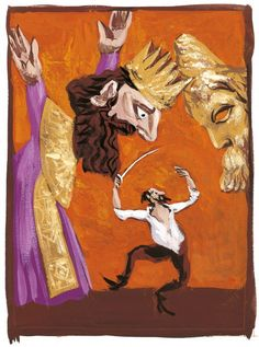 Gérard Garouste, Charlemagne et le roi Marsile © Adagp