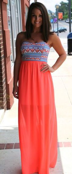 Super cute Aztec print maxi dresses from Saved by the Dress! And enter to win a $100 gift card! http://savedbythedress.com/pin/