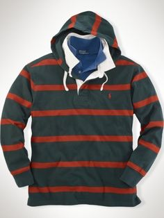aba2bd326ec90 Custom Striped Hooded Rugby - Polo Ralph Lauren Rugbys - RalphLauren.com