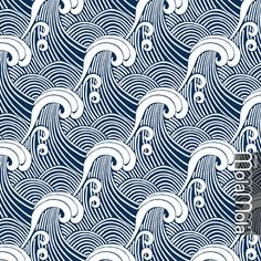 Pattern design showcase part 2 - Module 3 (April 2016 class) Japanese Textiles, Japanese Patterns, Vector Pattern, Pattern Design, Textures Patterns, Print Patterns, Ocean Tattoos, Tatoos, African Furniture