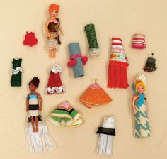 """Polly Pocket dolls are easy to make clothes for. Unlike Barbie, Polly has tiny…"