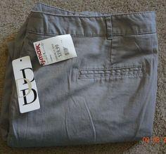 Dalia Collection Woman Size 18W Gray Slacks NWT Made/ Bangladesh Cotton/Spandex #DaliaWoman #CasualPants