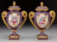 Ceramics & Porcelain, Continental:Antique  (Pre 1900), A Pair of Continental…