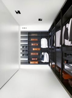 Like the idea of the open wardrobe, but then have the closed storage cupboards opposite.
