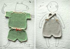 Retro inspired baby knits