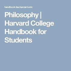 Philosophy |  Harvard College Handbook for Students