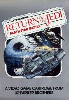 Box art for Star Wars: The Return of the Jedi. Death Star Battle  Released in 1983 for Atari 2600, Atari 5200, Atari XE and ZX Spectrum.