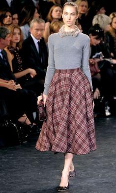 #plaid #skirt #fashionshow @fashion