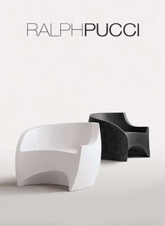 Contemporary sentiment and extraordinary form shape describe designer Vladimir Kagan's furniture line for the noted Ralph Pucci design house. Glass Furniture, Bench Furniture, Street Furniture, Modern Furniture, Furniture Design, Outdoor Garden Furniture, Garden Chairs, Glass Chair, Rocking Chairs