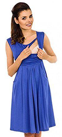 237d9d66d7657 Zeta Ville - Women's Maternity Nursing A-line Dress Pockets - Sleeveless -  500c (Cappuccino, UK 8, S)