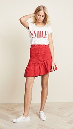 Versatile with endless pairing options, this ultra-feminine The Fifth Label skirt will become a staple piece for when you need cute and confident style. #summeroutfit #casualoutfit #casualstyle #summerstyle