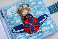 Travel quiet book 6 pages felt paper doll busy book Made от TomToy