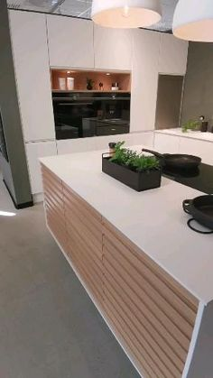 Kitchen Pantry Design, Kitchen Cabinet Styles, Luxury Kitchen Design, Kitchen Layout, Interior Design Kitchen, Kitchen Decor, Walnut Kitchen, Open Plan Kitchen Living Room, Home Kitchens