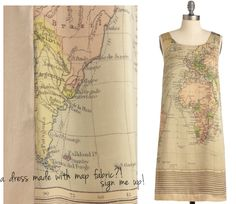 I love it - If I find map fabric, it's mine!