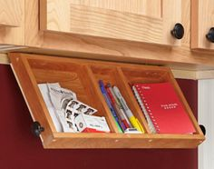Under Cabinet Storage For Cookbooks And Spices How Would I Make This