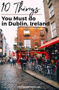 Dublin, Ireland Top 10 Travel Itinerary. Drinking isn't the only thing to do in Dublin. But I'd still highly recommend grabbing a pint at least once a day. Or if you're like me, it was sometimes breakfast, lunch and dinner. When in Ireland. From world renown Guinness and Whiskey to it's University, to centuries of history embedded into the very streets …