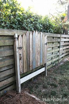 DIY::  Reclaimed Wood Fence Gate Styled  Headboard!