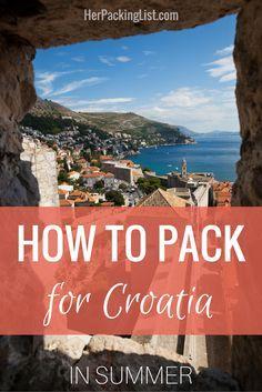 Ultimate Female Packing List for Croatia in Summer  #travel #travelling #destinations #travelblogger #travelstories #travelinspiration #besttravel #tourism #travelwriter #travelblog #traveldeeper #traveltheworld #Traveltips #Packinglist    http://adventuresoflilnicki.com/