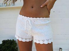 Bilderesultat for hakeln rosa shorts Shorts Tejidos A Crochet, Crochet Pants, Crochet Skirts, Crochet Clothes, Crochet Bikini, Knit Crochet, Crochet Shorts Pattern, Crochet Patterns, Crochet Cardigan