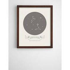 Personalized Love In Stars Framed Art Espresso in Gray