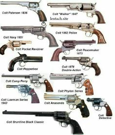 The Colt collection. Ninja Weapons, Weapons Guns, Guns And Ammo, Rifles, Weapon Concept Art, Fantasy Weapons, Cool Guns, Military Weapons, Le Far West