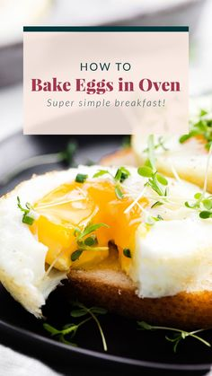 Learn how to bake eggs in the oven. They make a great on-the-go and meal prep breakfast. In this post, you'll learn how to make perfectly baked eggs every time. Healthy Crockpot Recipes, Healthy Breakfast Recipes, Breakfast Ideas, Healthy Food, Oven Baked Eggs, Waffle Recipes, Brunch Recipes, Egg Recipes, Healthy Banana Bread