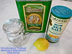 How to make your own lemon salt scrub - this smells amazing!  eclecticallyvintage.com