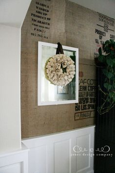 absolutely fantastic idea: use old coffee bags as wallpaper  designer, Jones Design company