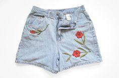 Vintage Bill Blass High Waist Denim Shorts  by ThriftyMartUSA