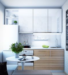 Find out how to design your own Kitchen. We have given the best Small Kitchen Remodel Ideas that Perfect for Your Kitchen. Home Interior, Kitchen Interior, Kitchen Decor, Kitchen Ideas, Küchen Design, Home Design, Micro Kitchen, Small Kitchen Organization, Bathroom Organization