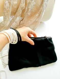 Vintage Italian Black Wedding handbag Clutch Little Black woman Purse Elegant Formal Evening Bag Italy Brand CARPISA by tastyJewelryfantasy on Etsy