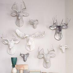 Papier-Mâché Animal Sculptures #WestElm