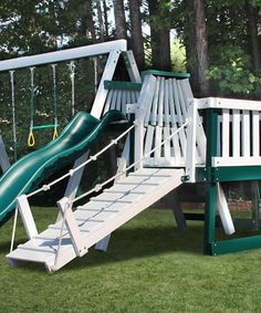 Add joy to the backyard with this activity-filled play set! Featuring a slide, swings and more, this quality constructed set will make any afternoon a thrilling undertaking for active little ones. Note: The trucking company will contact you by phone or email to schedule an appointment for delivery. The item will delivered to the end of the driveway, and will not be moved into your home. You must be present to accept the delivery. Please inspect the item for any visible damages upon delivery…