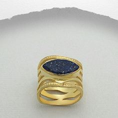 IN STOCK! Blue Lapis Lazuli & 18k Gold Ring LIKE THIS LISITING TO BE NOTIFIED IF THE PRICE DROPS! Fabulous NWT Blue Lapis Lazuli gemstone and 18k Gold Ring. Size 5. Brand new, never worn. Comes in original packaging. Metal is gold plated brass. Feel free to ask any questions. PRICED TO SELL! Bundle for further discounts. Boutique  Jewelry Rings