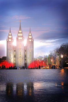 The Church of Jesus Christ of Latter-day Saints (LDS, Mormon). Mormon Temples, Lds Temples, Salt Lake City, Beautiful World, Beautiful Places, Beautiful Castles, Temple Pictures, Church Pictures, Salt Lake Temple