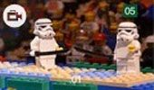 219b – This picture provides a humorous reconstruction of the women's epee, where a South Korean athlete remained on the piste crying in protest after the result. The newspaper is providing a different method of showing Olympics and the performances of other countries, not just the host nation. The image is of a novel nature, using storm trooper helmets from the film Star Wars as a replacement for actual helmets required for fencing. The use of Lego adds humour and attracts attention.