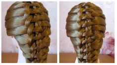 Tuto coiffure simple cheveux long/mi long  Coiffure tresse originale  ...