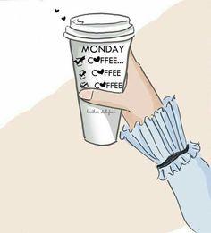It's Monday! But First Coffee, Coffee Love, Coffee Coffee, Coffee Talk, Starbucks Coffee, Black Coffee, Coffee Break, Rose Hill Designs, Arte Fashion
